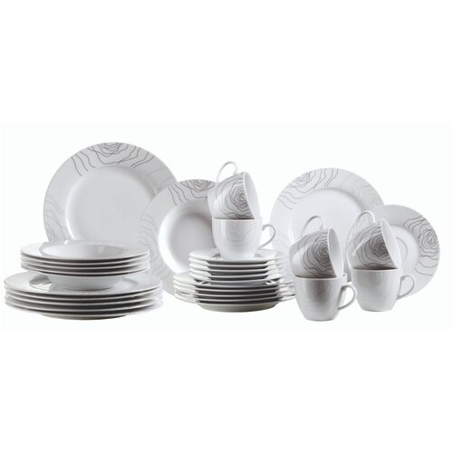 Elisso 30-Piece Dinnerware Set Mercury Row