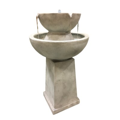 Classic Home and Garden Yorkshire Glass Fiber Reinforced Concrete Fountain