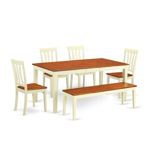 Napoli 6 Piece Dining Set Wooden Importers