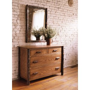 Berea 4 Drawer Dresser with Mirror by Flat Rock Furniture