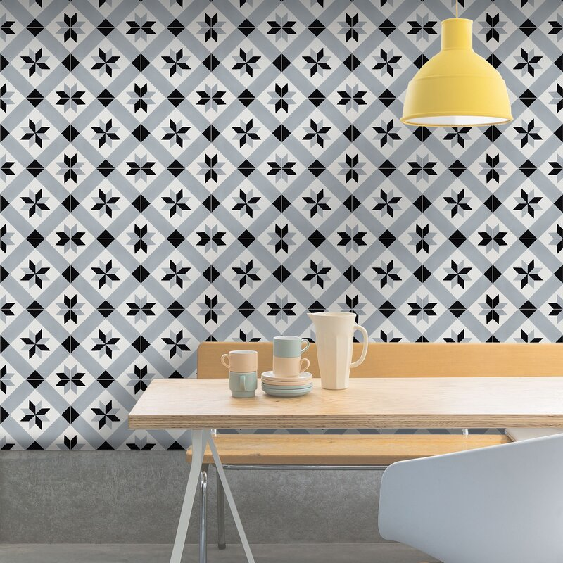 Moroccan Mosaic Tile House Kotoubia Handmade 8 X 8 Cement Field Tile Wayfair