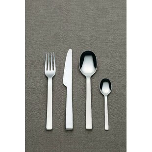 Ovale 24 Piece 18/10 Stainless Steel Flatware Set, Service for 6