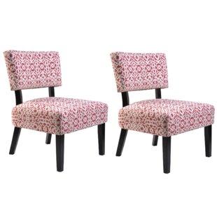 Ebern Designs Phyllis Slipper Chair (Set of 2)