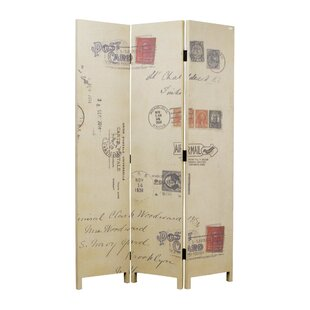 Oecusse Canvas and Wood 3 Panel Room Divider by Red Barrel Studio