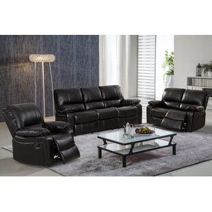 Koval 3 Piece Reclining Living Room Set by Red Barrel Studio