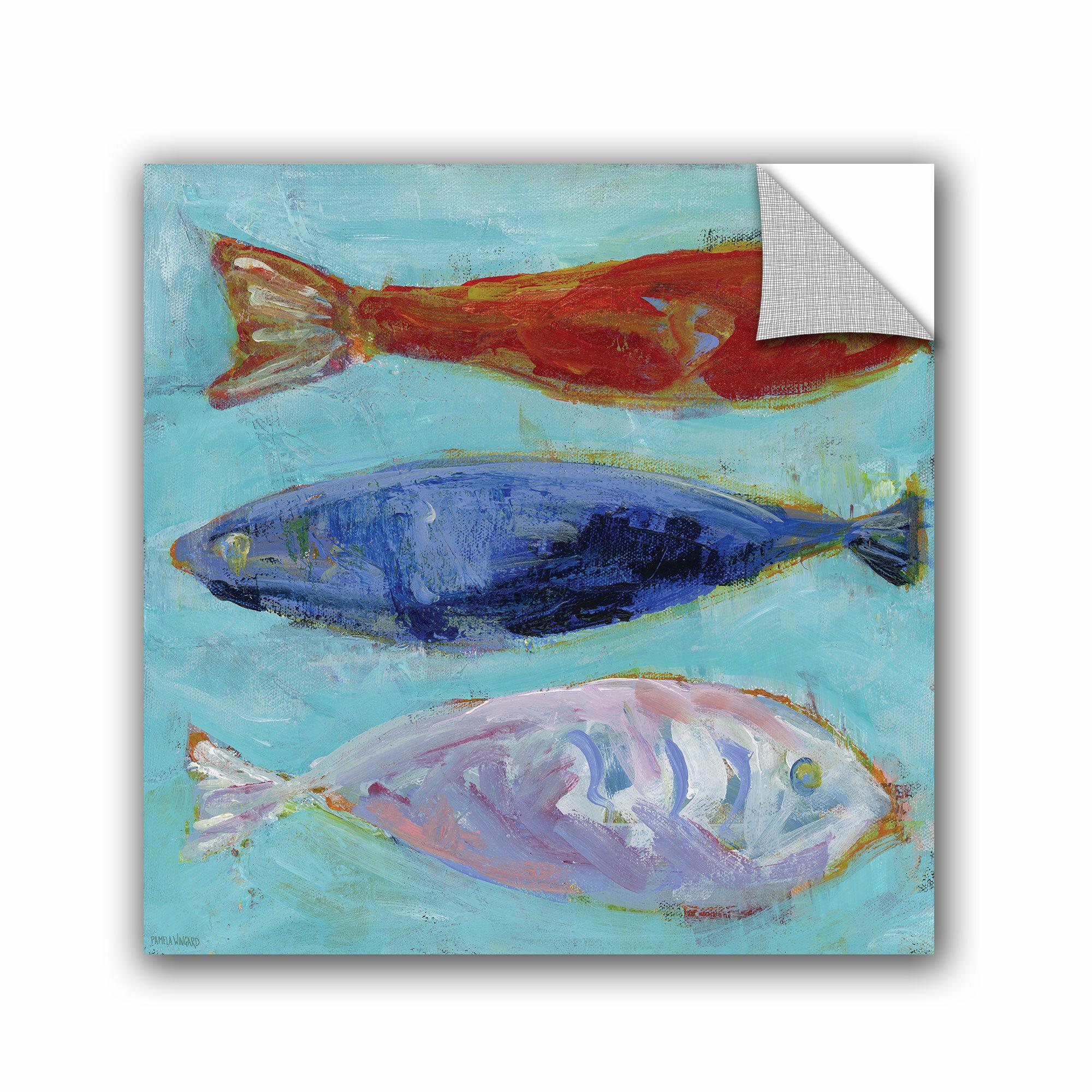 Artwall Nautical Fish Wall Mural Wayfair