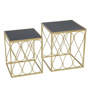 Magdalen Decorative Round 2 Piece Nesting Tables