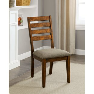 Resto Rustic Upholstered Dining Chair (Set of 2) Loon Peak