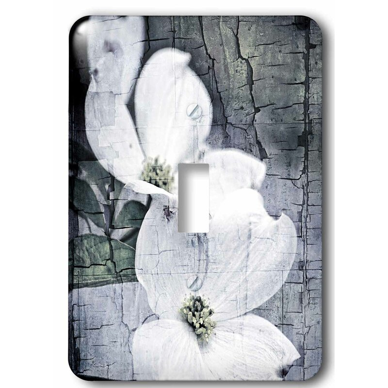 3drose Crackled Dogwood Flowers 1 Gang Toggle Light Switch Wall Plate Wayfair