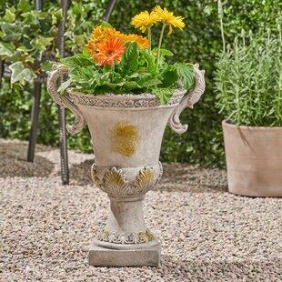 Giroux Concrete Chalice Urn Planter By Fleur De Lis Living