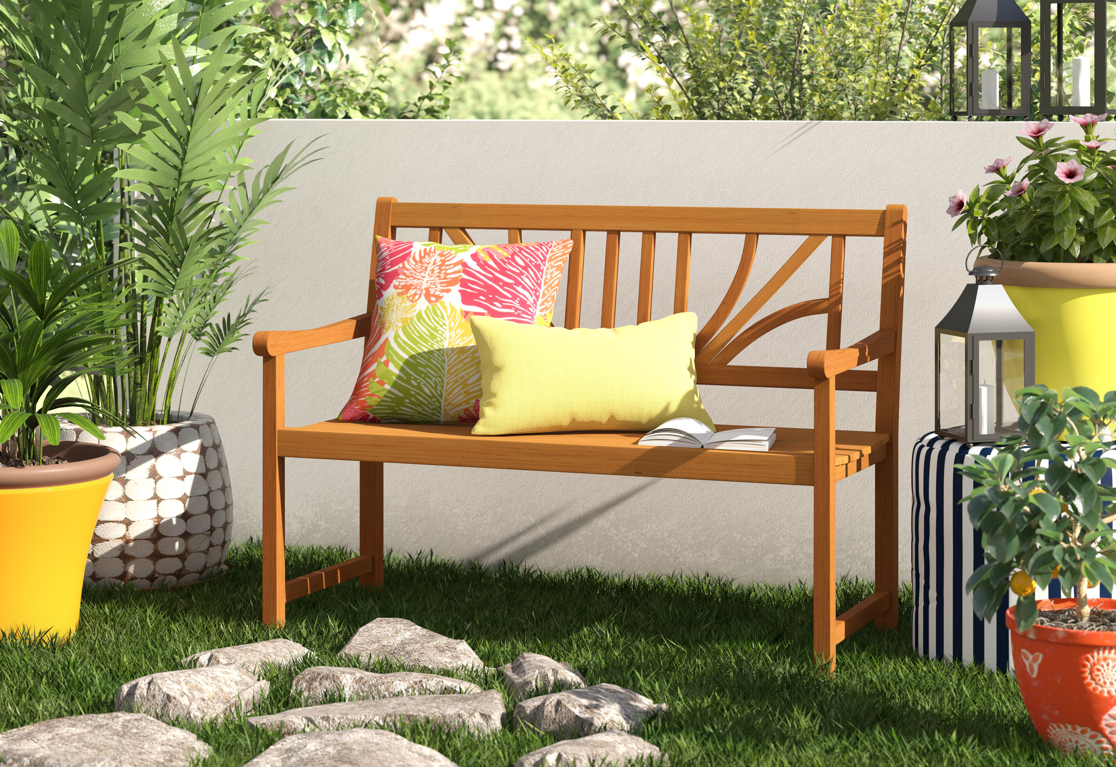 Fabulous Dauberville Wooden Bench Caraccident5 Cool Chair Designs And Ideas Caraccident5Info