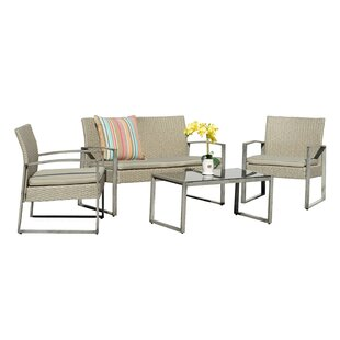 Tincher 4 Piece Sofa Seating Group with Cushions