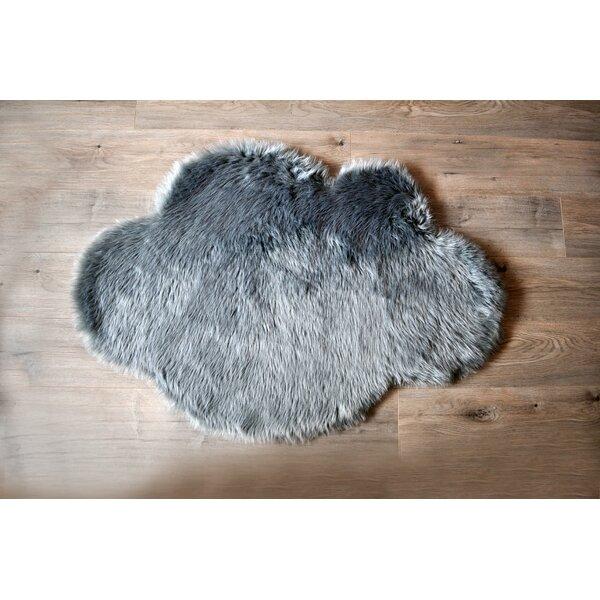 Mercer41 Mull Cloud Faux Sheepskin Gray Area Rug Reviews Wayfair