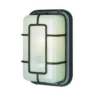 Check Prices 1-Light Outdoor Bulkhead Light By TransGlobe Lighting