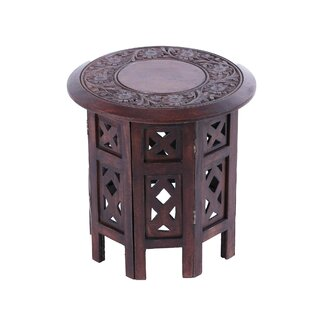 Harper Delightful Flowers Wood End Table