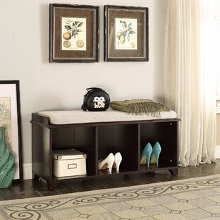 Alcott Hill Iseminger Wood Storage Bench