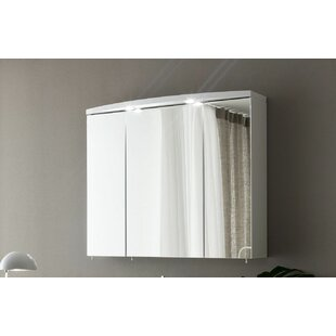Archeda VI 37.4 x 31.5 Surface Mount Medicine Cabinet with Lighting by Acquaviva