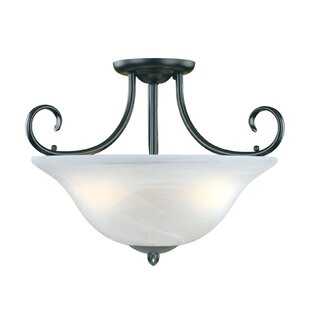 Greenport 3-Light Semi-Flush Mount by Red Barrel Studio