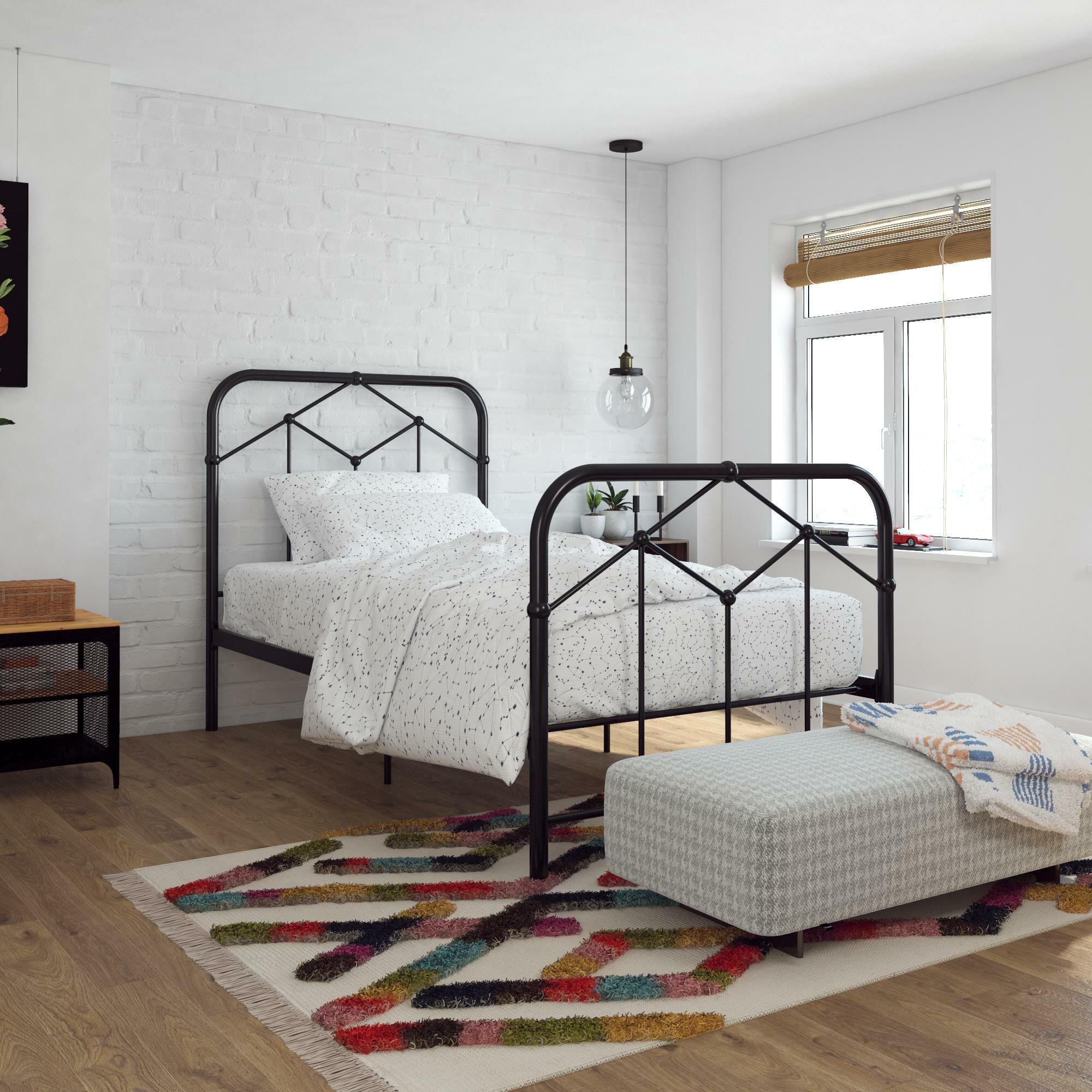Novogratz Francis Farmhouse Metal Platform Bed Reviews Wayfair