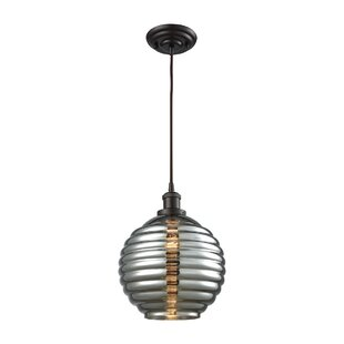 Bourbeau 1-Light Globe Pendant by Brayden Studio