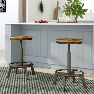 Gracie Oaks Canh Adjustable Height Bar Stool (Set of 2)