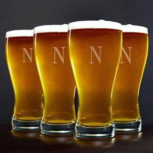 Personalized 20 oz. Pilsner Glass (Set of 4)
