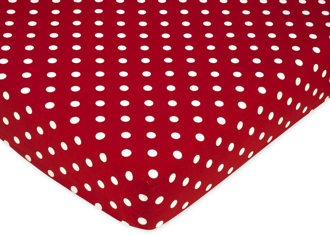 Little Ladybug Polka Dot Fitted Crib Sheet