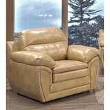 Adelee 2 Pieces Genuine Leather Living Room Set (Set of 3) by Ebern Designs