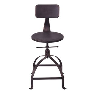 Goldman Adjustable Height Bar Stool by Williston Forge No Copoun