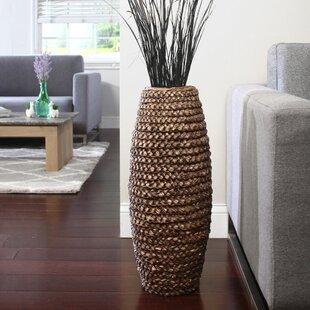 Aurora Brown 23.5'' Manufactured Wood Floor Vase