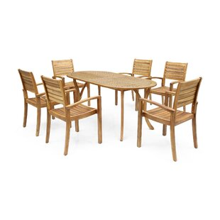 Bungalow Rose Neligh 7 Piece Dining Set