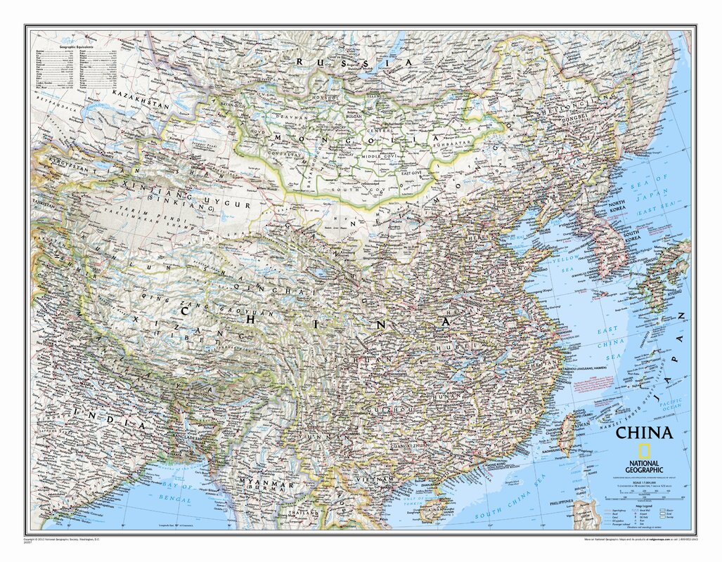National geographic maps china classic wall map reviews wayfair china classic wall map gumiabroncs Image collections