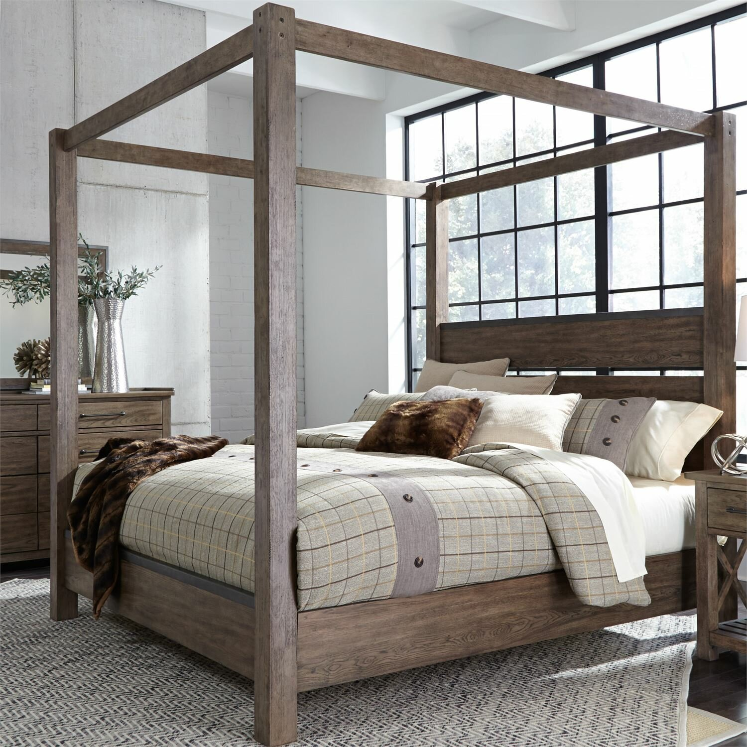 Picture of: King Size Canopy Beds Wayfair