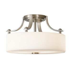 Brayden Studio Brundage 2-Light Semi Flush Mount
