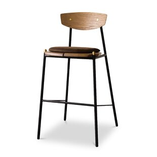 Aldo Oak Bar Stool by Corrigan Studio