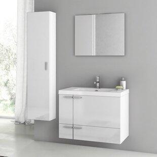 New Space 32 Single Bathroom Vanity Set with Mirror by ACF Bathroom Vanities