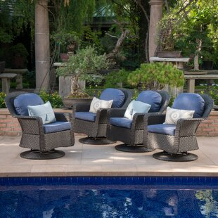 Dearing Patio Chair with Cushions (Set of 4) by Birch Lane™ Heritage