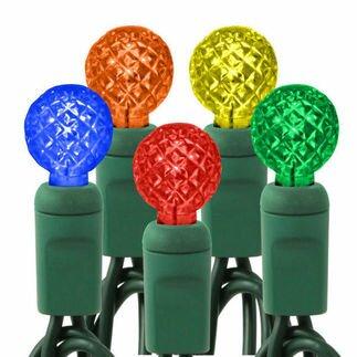 Queens of Christmas 70 Light LED String Light Bulb Colour: Multi / Green