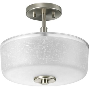 Nash 2-Light Semi Flush Mount by Ebern Designs