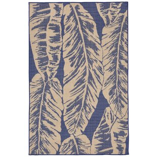 Lambert Banana Leaf Blue Indoor/Outdoor Area Rug By Bay Isle Home