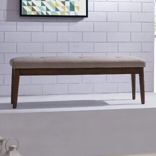 George Oliver Wardle Upholstered Wood Bench