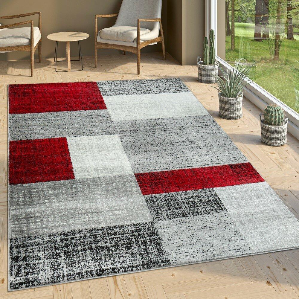 Longweave Teppich Brenden In Rot Grau Wayfair De