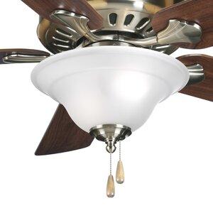 3-Light Bowl Ceiling Fan Kit