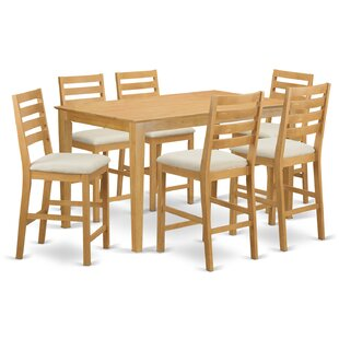 Smyrna 7 Piece Counter Height Pub Table Set Charlton Home