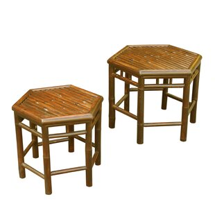 ZEW Inc 2 Piece Nesting Table Set