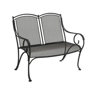Modesto Wrought Iron Garden Bench by Woodard Cool