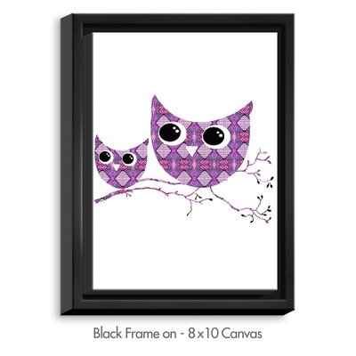Owl Argyle By Susie Kunzelman Graphic Art On Wrapped Framed Canvas Dianochedesigns Frame Color Black Size 4175 H X 3175 W X 175 D