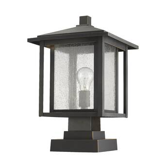 Winston Porter Savala Outdoor 1 Light Pier Mount Light Wayfair
