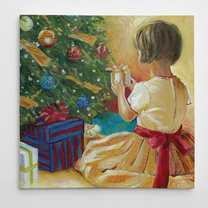 'Opening Gifts' Painting Print on Wrapped Canvas