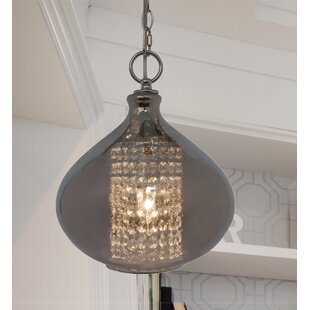 Compare & Buy Pokorny Crystal Glass 1-Light Globe Pendant By Bungalow Rose